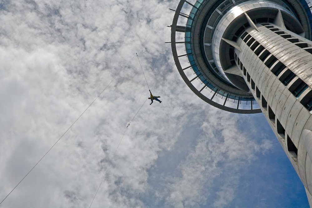Auckland:  Sky Jump offers one of New Zealand's top adrenaline sports, a cable-controlled leap off one of the observation decks of the 1,076-foot-high Sky Tower, the tallest building in the Southern Hemisphere.