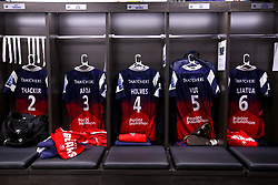 Bristol Bears changing room, ahead of their Premiership Rugby fixture with Sale Sharks - Mandatory by-line: Robbie Stephenson/JMP - 03/05/2019 - RUGBY - Ashton Gate Stadium - Bristol, England - Bristol Bears v Sale Sharks - Gallagher Premiership Rugby