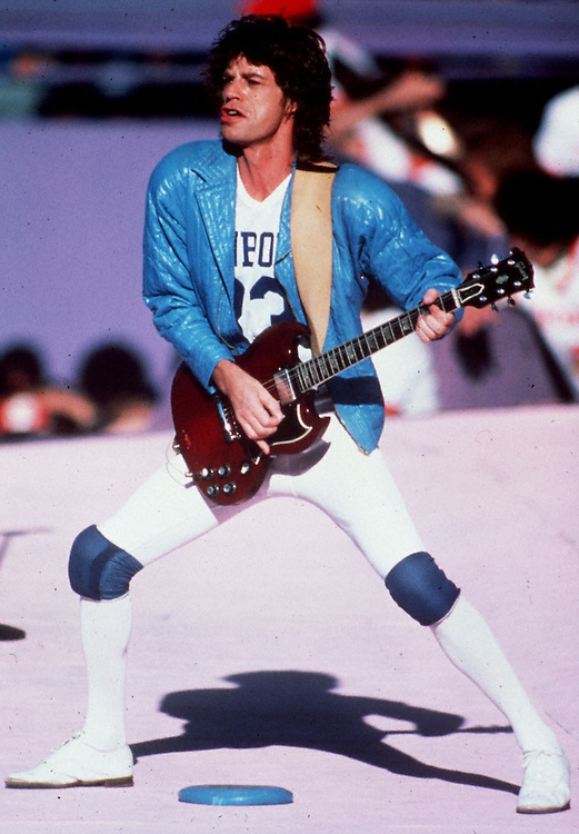 Mick Jagger and the Rolling Stones at the Cotton Bowl in Dallas, Texas 1981.