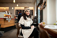 04 JAN 2012, BERLIN/GERMANY:<br /> Shermin Voshmgir, Filmemacherin und Gruenderin des Start-ups cinovu.com, Cafe Oberholz, Rosenthaler Platz<br /> IMAGE: 20120104-01-020