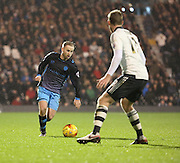 Sheffield Wednesday midfielder Barry Bannan driving the team forward during the Sky Bet Championship match between Fulham and Sheffield Wednesday at Craven Cottage, London, England on 2 January 2016. Photo by Matthew Redman.