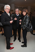 KEN FOLLETT; BILL WYMAN; BARBARA FOLLETT;, BILL WYMAN - REWORKED' , Photographs by Bill Wyman and reworks by Gerald Scarfe, Pam Glew, Dale Marshall, Penny and James Mylne, Rook & Raven Gallery: 7-8 Rathbone Place, London. 26 February 2013