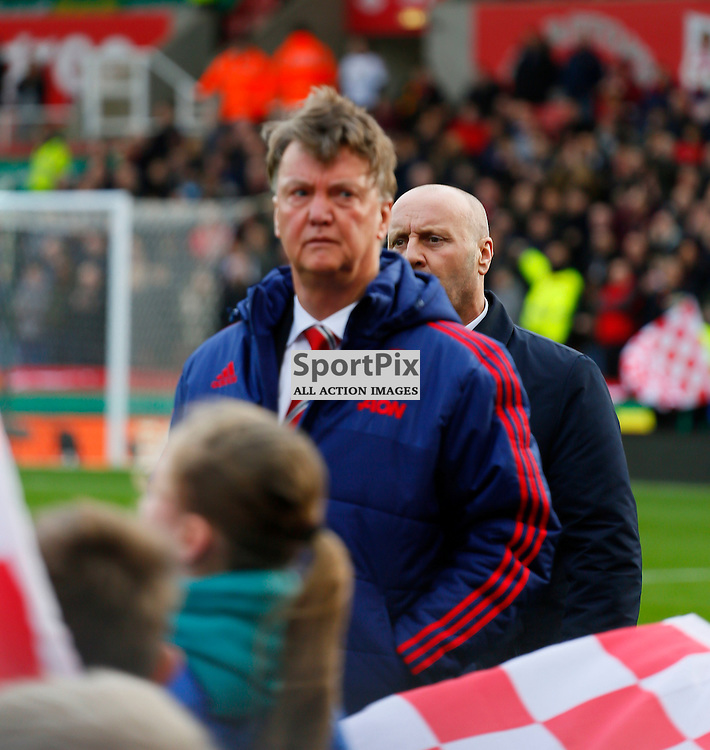 Louis Van Gaal after losing 2-0 during Stoke City v Manchester United, Barclays Premier League, Saturday 26th December 2015, Britannia Stadium, Stoke
