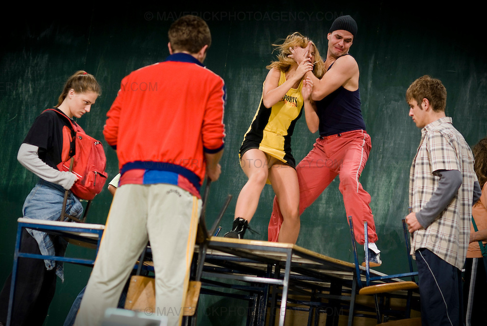 Class Enemy is based on Nigel William's play set in South London in 1978 but director Haris Pasovic transports the play to Sarajevo in 2007, a post war city where social disorder and teenage violence are rife.  The teenage characters have dramatic stories which paint a bleak picture of family life, they are underprivileged but gifted and eager to be recognised, acknowledged, confronted and taught about life.