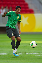 14.06.2013,Mane Garrincha National Stadium Brasilia, BRA, FIFA Confed Cup, Brasilien Training, im Bild // Paulinho during the FIFA Confederations Cup Training of Team Brazil at the Mane Garrincha National Stadium Brasilia, Brazil on <br /> 2013/06/14. EXPA Pictures © 2013, PhotoCredit: EXPA/ Marcelo Machado