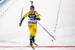 March 9, 2019 - –Stersund, Sweden - 190309 Fredrik Lindström of Sweden crosses the finish line in the Men's 10 KM sprint during the IBU World Championships Biathlon on March 9, 2019 in Östersund..Photo: Johan Axelsson / BILDBYRÃ…N / Cop 245 (Credit Image: © Johan Axelsson/Bildbyran via ZUMA Press)