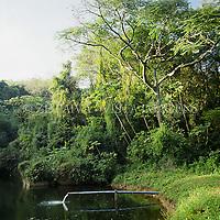 DESCRICAO, Lagoa de decantacao, tratamento de esgoto em Santa Catarina, Brasil. Foto de Ze Paiva/Vista Imagens