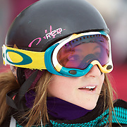 Ursina Haller, Switzerland, during the Women's Half Pipe Qualification in the LG Snowboard FIS World Cup, during the Winter Games at Cardrona, Wanaka, New Zealand, 27th August 2011. Photo Tim Clayton..