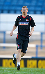 CARDIFF, WALES - Wednesday, October 8, 2008: Wales' Simon Church during training at Ninian Park ahead of the UEFA European U21 Championship Play-Off match against England. (Photo by David Rawcliffe/Propaganda)