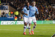 Raheem Sterling (7) of Manchester City celebrates a goal (1-3) during the EFL Cup match between Oxford United and Manchester City at the Kassam Stadium, Oxford, England on 18 December 2019.