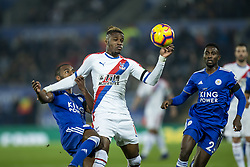 February 23, 2019 - Leicester, England, United Kingdom - Wilfried Zaha of Crystal Palace  is under pressure from Ricardo Pereira of Leicester City during the Premier League match between Leicester City and Crystal Palace at the King Power Stadium, Leicester on Saturday 23rd February 2019. (Credit Image: © Mi News/NurPhoto via ZUMA Press)