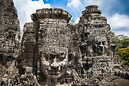 Carved faces, Bayon Temple, Cambodia