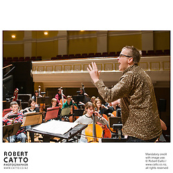 The Vector Wellington Orchestra rehearse Bartok's work, Bluebeard's Castle, with conductor Marc Taddei, guest soloists Paul Whelan and Margaret Medlyn, and the Chapman Tripp Opera Chorus at Wellington's Town Hall.