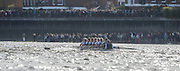 London, Great Britain, Oxforf approaching Chiswick Pier, during The Newton Women's Boat Race, Men's Race , Championship Course.  River Thames. Putney to Mortlake. ENGLAND. <br /> <br /> 17:00:42  Saturday  11/04/2015<br /> <br /> [Mandatory Credit; Peter Spurrier/Intersport-images]<br /> <br /> OUWBC Crew: <br /> Maxie SCHESKE, Anastasia CHITTY, Shelley PEARSON, Lauren KEDAR, Maddy BADCOTT, Emily REYNOLDS, Nadine GRAEDEL IBERG, Caryn DAVIES and Cox Jennifer EHR