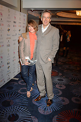 Singer CERYS MATTHEWS and husband STEVEN ABBOTT at the 6th annual Asian Awards held at The Grosvenor House Hotel, Park Lane, London on 8th April 2016.