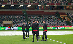 November 14, 2017 - Leiria, Leiria, Portugal - Leiria, Portugal - Tuesday November 14, 2017: USMNT observe the pitch during an International friendly match between the United States (USA) and Portugal (POR) at Estádio Dr. Magalhães Pessoa. (Credit Image: © John Dorton/ISIPhotos via ZUMA Wire)