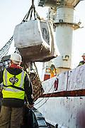 Loading supplies onto the Boa Sub C Multi purpose Offshore Vessel