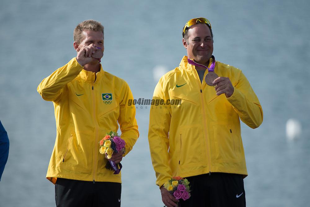 2012 Olympic Games London / Weymouth<br /> Medal Ceremony Star<br /> Scheidt Robert, Prada Bruno, (BRA, Star)
