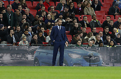 2017?11?11?.     ?????1???——???????????.        11?10????????Gareth Southgate, manager of England ??????.       ??????????????????????????????????0?2??????.        ????????.(SP) BRITAIN-LONDON-FOOTBALL-INTERNATIONAL FRIENDLY-ENG VS GER.(171111) -- LONDON,  Nov. 11, 2017  Gareth Southgate, manager of England looks on during the International Football Friendly match between England and Germany at Wembley Stadium in London, Britain on Nov. 10, 2017.  The match ended in 0-0 draw. (Credit Image: © Han Yan/Xinhua via ZUMA Wire)