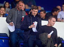 BIRKENHEAD, ENGLAND - Sunday, September 10, 2017: Liverpool's Under-18 manager Steven Gerrard arrives to watch the Under-23 FA Premier League 2 Division 1 match between Liverpool and Manchester City at Prenton Park. (Pic by David Rawcliffe/Propaganda)