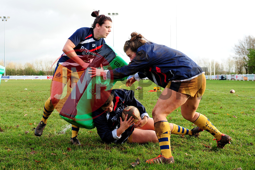 Bristol Ladies warm up - Mandatory by-line: Dougie Allward/JMP - 11/12/2016 - RUGBY - Cleve RFC - Bristol, England - Bristol Ladies v Darlington Mowden Park Ladies - RFU Women's Premiership
