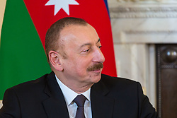 British Prime Minister Theresa May welcomes the President of the Republic of Azerbaijan Ilham Aliyev to her official residence at 10 Downing Street in London. London, April 26 2018.
