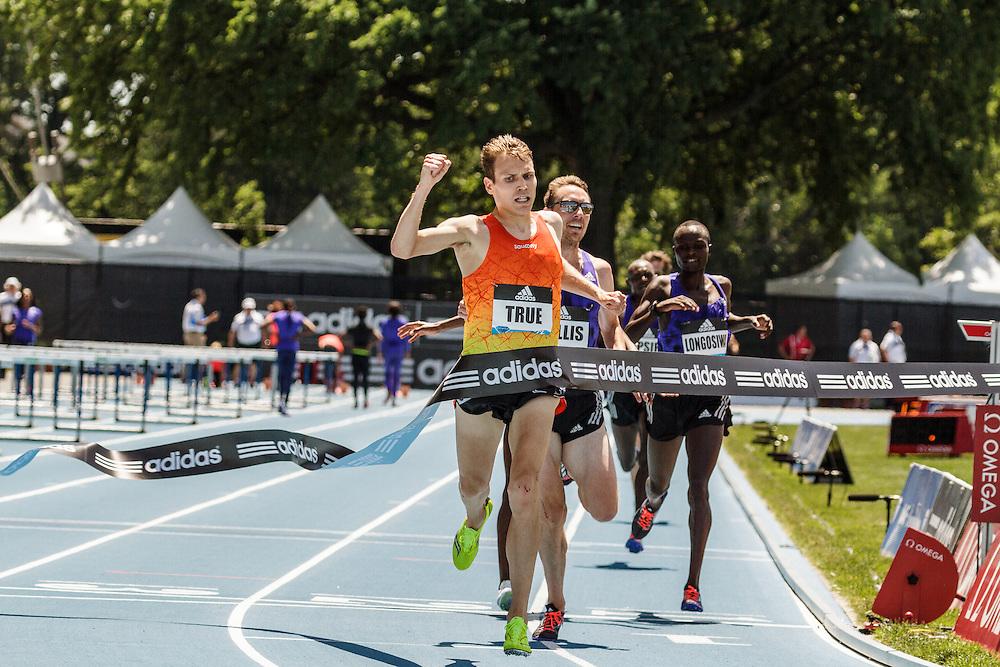 adidas Grand Prix Diamond League Track & Field: Men's 5000m, Ben True, USA, battles Nick Willis, NZL, to win
