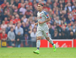 MANCHESTER, ENGLAND - Sunday, February 24, 2019: Liverpool's Roberto Firmino walks off injured during the FA Premier League match between Manchester United FC and Liverpool FC at Old Trafford. (Pic by David Rawcliffe/Propaganda)