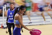 Katarina Johnson-Thompson (Great Britain), Pentathlon, High Jump, during the European Athletics Indoor Championships 2019 at Emirates Arena, Glasgow, United Kingdom on 1 March 2019.