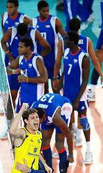 10-10-2010 VOLLEYBAL: FIVB 2010 WORLD CHAMPIONSHIP: CUBA - BRAZIL: ROME<br /> Brunoo Mossa REZENDE celebrates victory <br /> ©2010- Baldassarre/Staccioli Insidefoto / WWW.FOTOHOOGENDOORN.NL