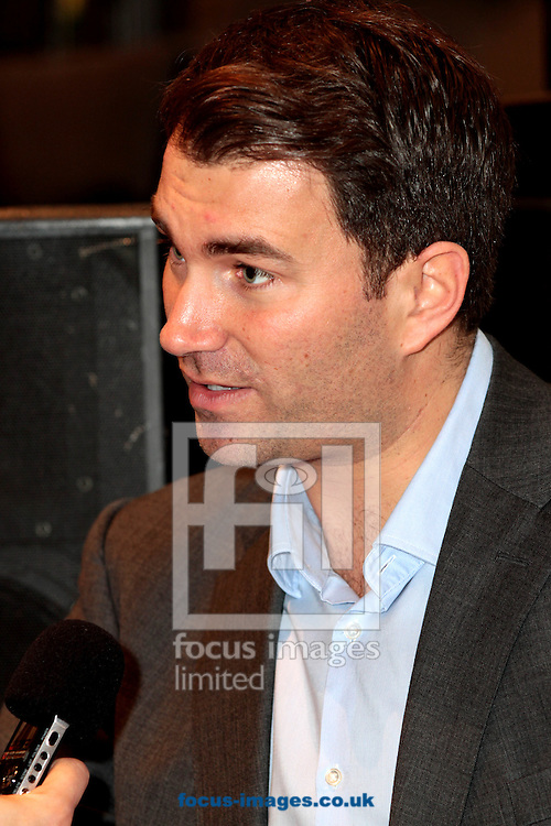Picture by Richard Gould/Focus Images Ltd +447814 482222.24/04/2013.Eddie Hearn is interviewed and talks about Luke and his 1st pro fight at the Luke Campbell Press Conference at Hull City Hall, Hull.