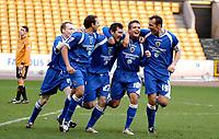 Photo: Ed Godden/Sportsbeat Images.<br />Wolverhampton Wanderers v Cardiff City. Coca Cola Championship. 20/01/2007. Cardiff's Jason Byrne (#27) celebrates scoring the winning goal.