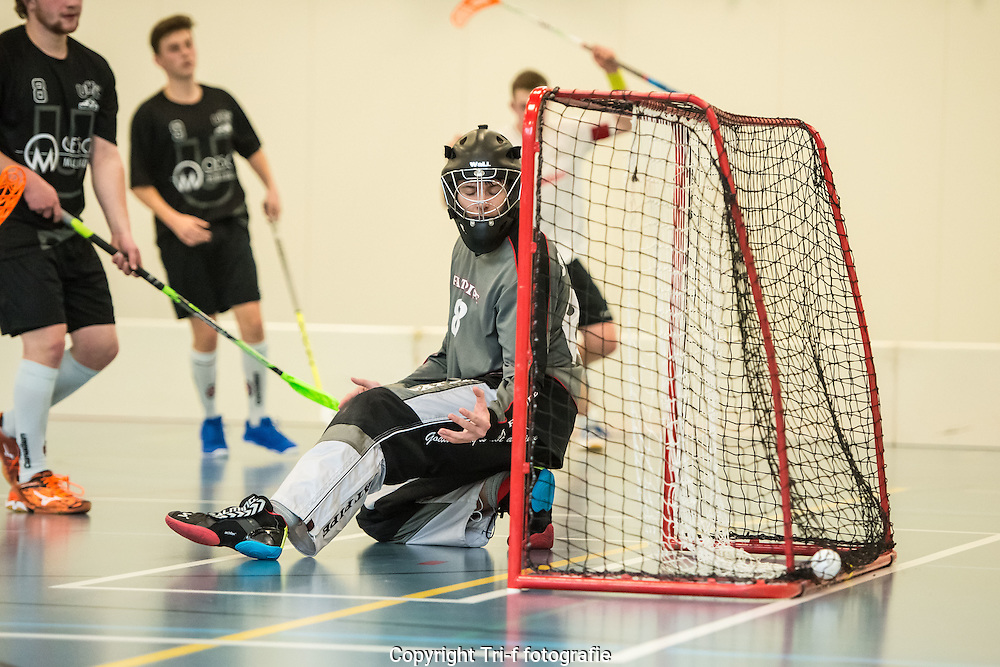 Unihockey Schüpfheim scores against Black Creek Schwarzenbach
