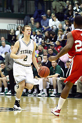 29 January 2011: Sean Johnson during an NCAA basketball game between the Carthage Reds and the Illinois Wesleyan Titans at Shirk Center in Bloomington Illinois.