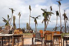 Fiji-Photos from the cyclone Winston damaged Naviti Island Island