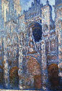 Rouen Cathedral, Sunlight' 1894: Claude Monet (1840-1926) French artist. Oil on canvas.