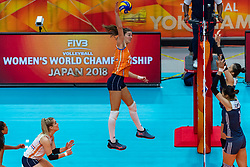 20-10-2018 JPN: Final World Championship Volleyball Women day 18, Yokohama<br /> China - Netherlands 3-0 / Anne Buijs #11 of Netherlands