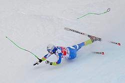 19.01.2013, Lauberhornabfahrt, Wengen, SUI, FIS Weltcup Ski Alpin, Abfahrt, Herren, im Bild Rok Perko (SLO) stuerzt im Zielhang // crashes during mens downhillrace of FIS Ski Alpine World Cup at the Lauberhorn downhill course, Wengen, Switzerland on 2013/01/19. EXPA Pictures © 2013, PhotoCredit: EXPA/ Freshfocus/ Urs Lindt..***** ATTENTION - for AUT, SLO, CRO, SRB, BIH only *****