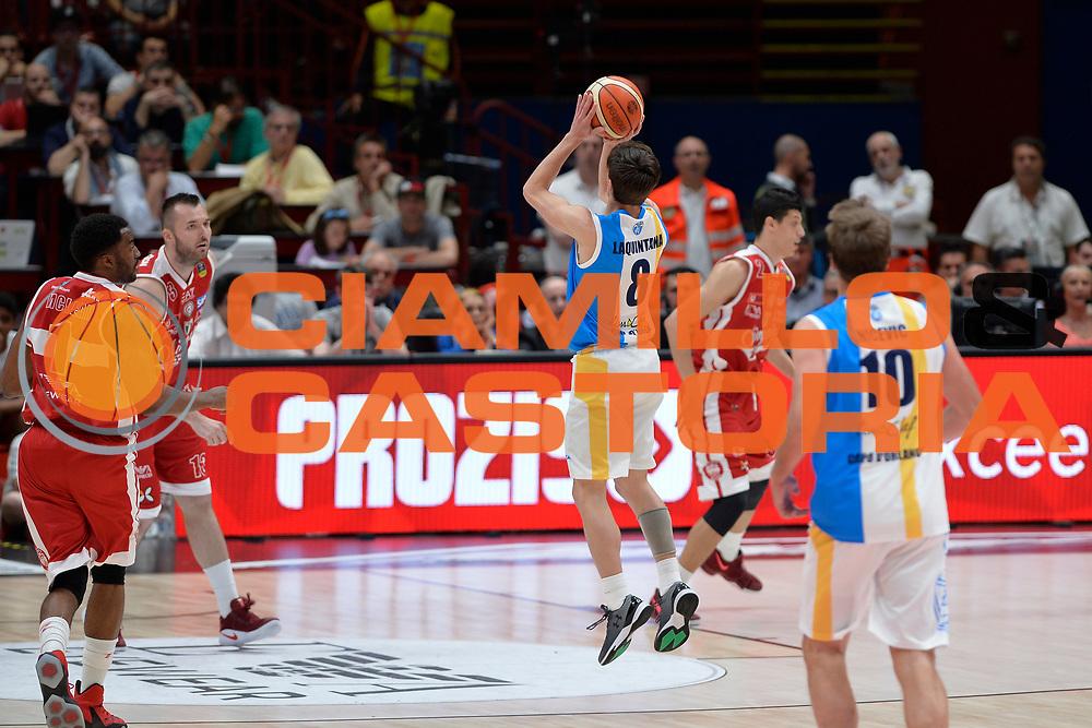 Tommaso Laquintana<br /> Olimpia EA7 Emporio Armani Milano vs Vanoli Cremona<br /> Lega Basket Serie A 2016/2017<br /> PlayOff semifinale gara 2<br /> Milano 14/05/2017<br /> Foto Ciamillo-Castoria / I.Mancini