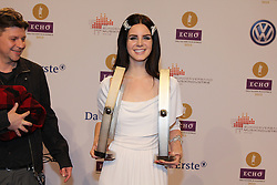 """Lana Del Rey winning 2 prices for Newcomer and best International, German """"Echo"""" music award in Messegelaende, Berlin, Germany, 21, March 2013. Photo by Elliott Franks / i-Images..."""