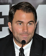 Picture by Alan Stanford/Focus Images Ltd +44 7915 056117<br /> 03/10/2013<br /> Promoter Eddie Hearn pictured during a Matchroom Sports press conference at International Hotel, Canary Wharf, London.