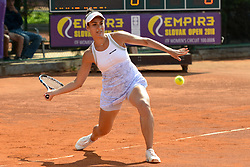 May 19, 2018 - Trnava, Slovakia - VERONICA CEPEDE ROYG of Paraguay in her semifinal match in the Empire Slovak Open tennis tournament in Trnava Slovakia (Credit Image: © Christopher Levy via ZUMA Wire)