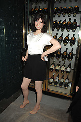 Singer SOPHIE ELLIS-BEXTOR at a party to launch the Dom Perignon OEotheque 1995 held at The Landau, Portland Place, London W1 on 26th February 2008.<br />