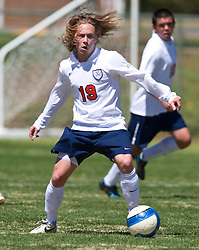 Virginia Cavaliers forward Nino DiMaggio (19).  The North Carolina State Wolfpack defeated the Virginia Cavaliers 1-0 in NCAA Men's Soccer during a spring scrimmage at the Klockner Stadium practice field on the Grounds of the University of Virginia in Charlottesville, VA on April 4, 2009.