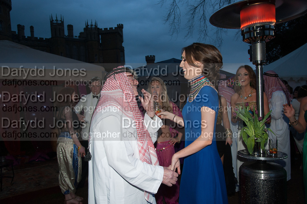 JOHN WATKINS ( GRANDFATHER ); LADY ALICE MANNERS, Alice Manners 18th   birthday. Belvoir Castle, Grantham. 12 April 2013.