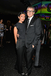 JAY JOPLING and HIKARI YOKOYAMA at the Warner Music Group & Belvedere BRIT Awards After Party held at The Savoy, London on 19th February 2014.