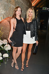 Left to right, IMOGEN LEAVER and IANTHE ROSE COCHRANE-STACK at a party to launch the Amazon Fashion Photography Studio at 383 Geffrye Street, London E2 on 23rd July 2015.