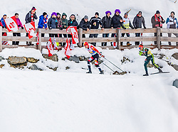 02.03.2019, Seefeld, AUT, FIS Weltmeisterschaften Ski Nordisch, Seefeld 2019, Nordische Kombination, Langlauf, Team Bewerb 4x5 km, im Bild v.l. Franz-Josef Rehrl (AUT), Johannes Rydzek (GER) // f.l. Franz-Josef Rehrl of Austria and Johannes Rydzek of Germany during the Cross Country Team competition 4x5 km of Nordic Combined for the FIS Nordic Ski World Championships 2019. Seefeld, Austria on 2019/03/02. EXPA Pictures © 2019, PhotoCredit: EXPA/ Stefan Adelsberger