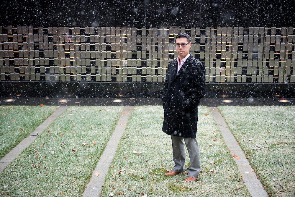 December 10, 2013 - Hochiang Wang is a Marine Corps veteran and treasurer of the Student Veterans Organization at Northeastern University