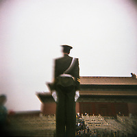 A policeman at the Forbidden City in Beijing, China.